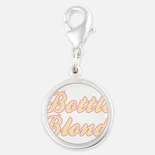 Bottle Blonde Silver Round Charm
