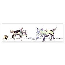 Cat dog Bumper Bumper Sticker