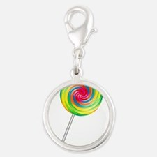 lollipop.png Silver Round Charm