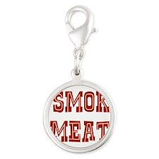 I Smoke Meat Silver Round Charm
