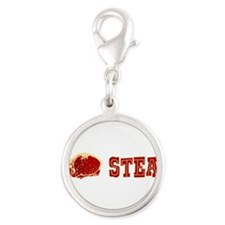 i-love-steak.png Silver Round Charm
