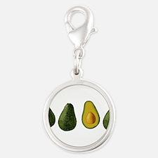 avocados_mug.png Silver Round Charm