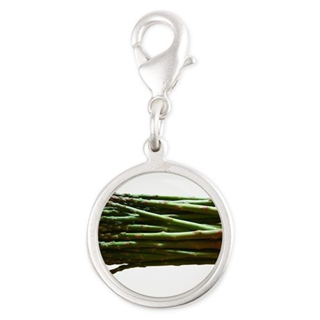 ASPARAGUS-NEW.png Silver Round Charm