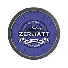Zermatt Midnight Wall Clock
