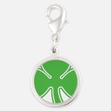 shamrock.png Silver Round Charm