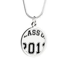Unique 2011 graduation Silver Round Necklace