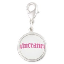 quinceanera-cal.png Silver Round Charm