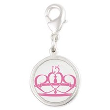 15-crown.png Silver Round Charm