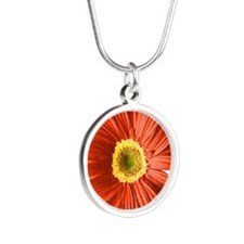 pop-daisy_rd.png Silver Round Necklace