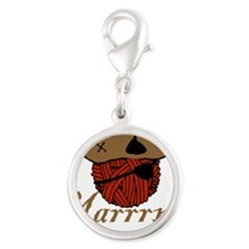 yarrrn.png Silver Round Charm
