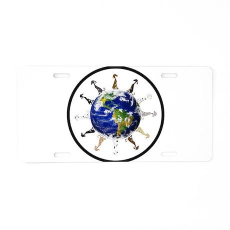 Greyhound around the world! Aluminum License Plate