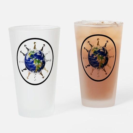 Greyhound around the world! Drinking Glass