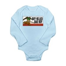 Buff-bellied Bad Boy Long Sleeve Infant Bodysuit