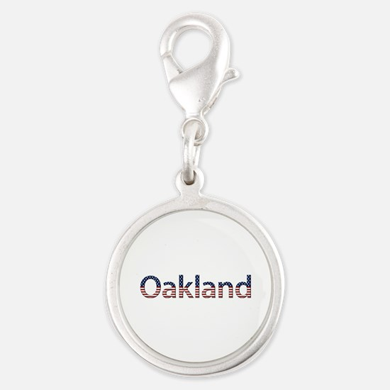 Oakland Stars and Stripes Silver Round Charm