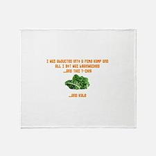 Souvenir Kale Shirt Throw Blanket