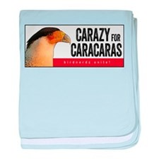 Carazy for Caracaras baby blanket