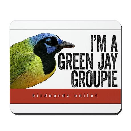 Green Jay Groupie Mousepad