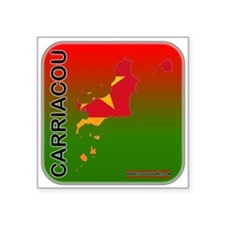 "Carriacou Square Sticker 3"" x 3"""