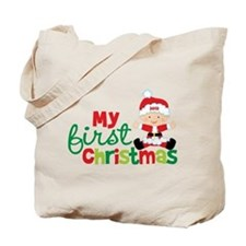 Baby Santa Babies First Christmas Tote Bag