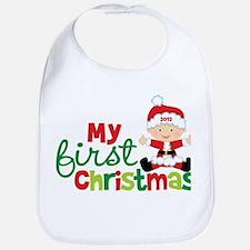 Baby Santa Babies First Christmas Bib