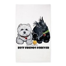 Westie Scottie Best Friends 3'x5' Area Rug
