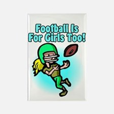 Girls Football Rectangle Magnet