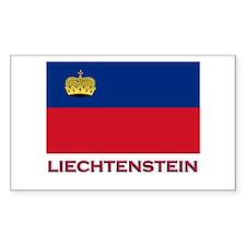 Liechtenstein Flag Stuff Rectangle Decal