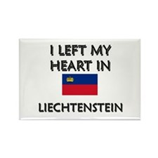 I Left My Heart In Liechtenstein Rectangle Magnet