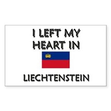 I Left My Heart In Liechtenstein Sticker (Rectangu