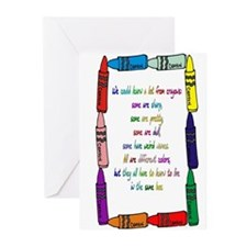 Crayons Greeting Cards (Pk of 10)