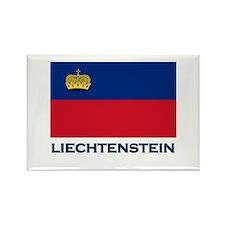Liechtenstein Flag Gear Rectangle Magnet