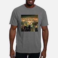 NY at Night Mens Comfort Colors Shirt