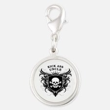Kick Ass Uncle Silver Round Charm