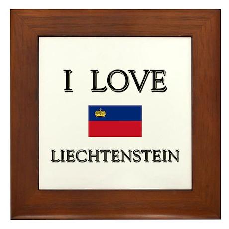 I Love Liechtenstein Framed Tile