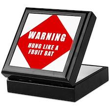 Caution - Hung Like A Fruit B Keepsake Box