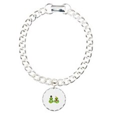 cute bride and groom froggy frog couple Bracelet