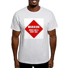 Caution - Hung Like A Fruit B Ash Grey T-Shirt