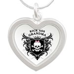 Kick Ass Grandma Silver Heart Necklace