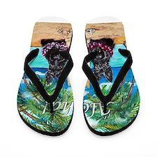 Scottish Terrier Aloha Paradise! Flip Flops