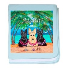 Scottish Terrier Aloha Paradise! baby blanket