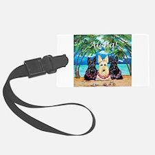 Scottish Terrier Aloha Paradise! Luggage Tag