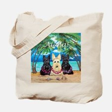 Scottish Terrier Aloha Paradise! Tote Bag
