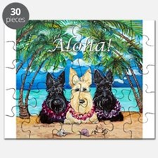 Scottish Terrier Aloha Paradise! Puzzle
