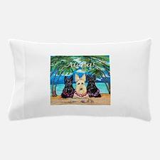 Scottish Terrier Aloha Paradise! Pillow Case