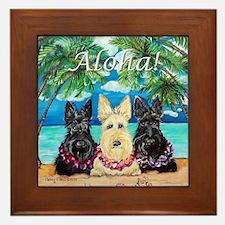 Scottish Terrier Aloha Paradise! Framed Tile
