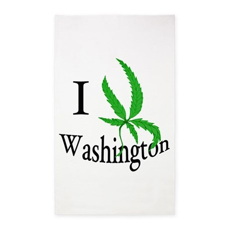 I cannabis Washington 3'x5' Area Rug