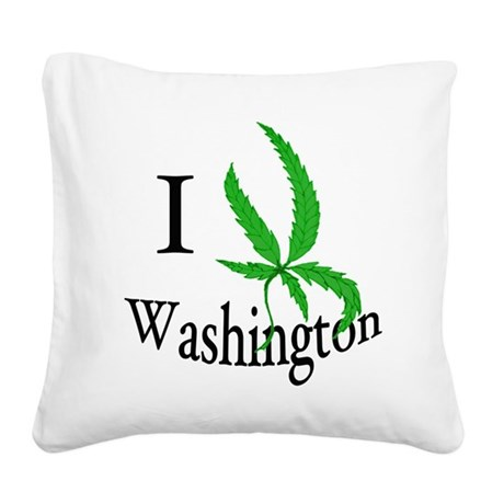 I cannabis Washington Square Canvas Pillow