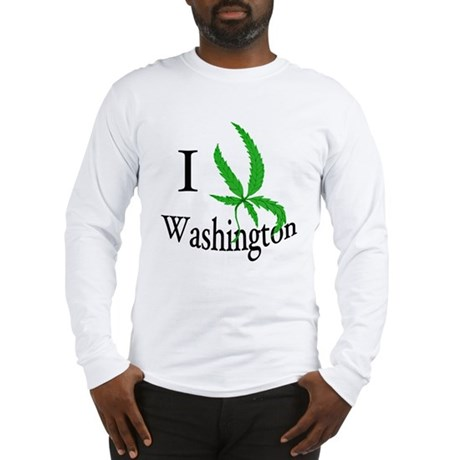 I cannabis Washington Long Sleeve T-Shirt