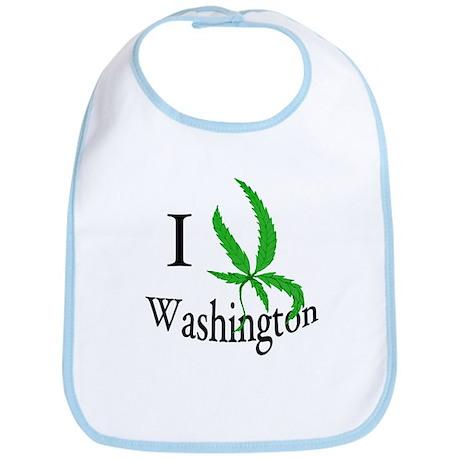 I cannabis Washington Bib