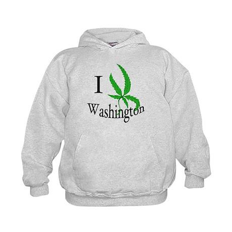 I cannabis Washington Kids Hoodie